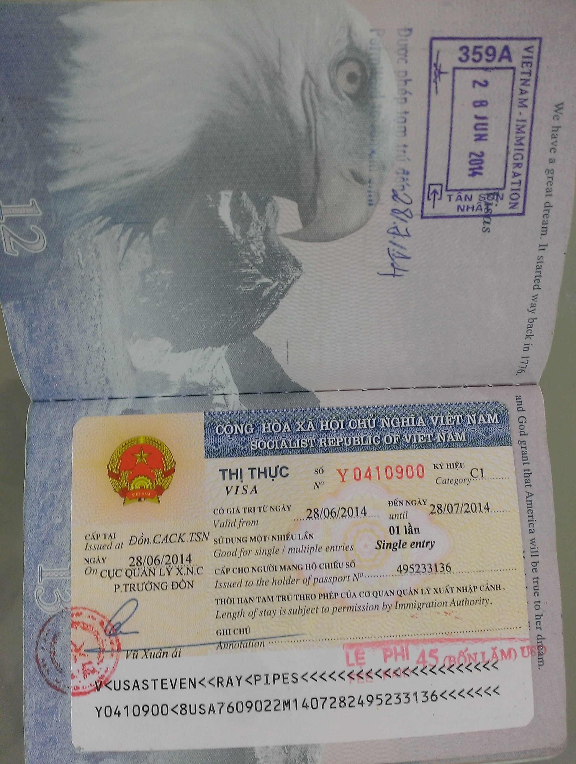Vietnam visa extension 2018