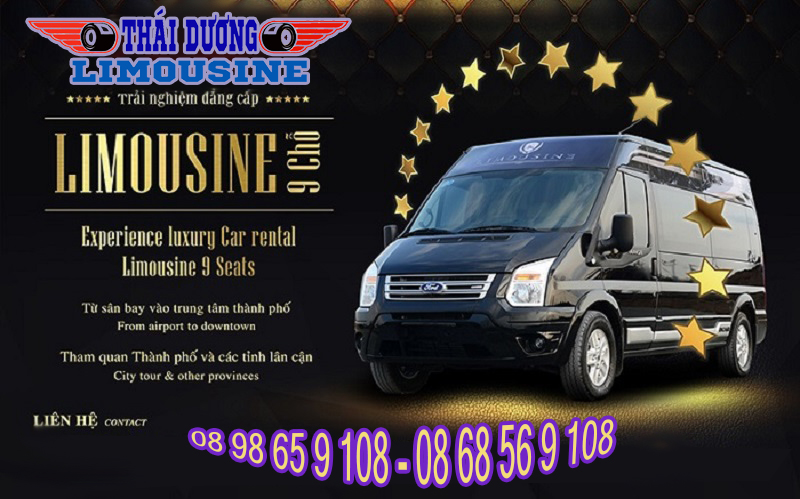 Ho chi minh airport pickup or transfer by Limousine van