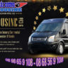 Airport pickup or transfer by Limousine van