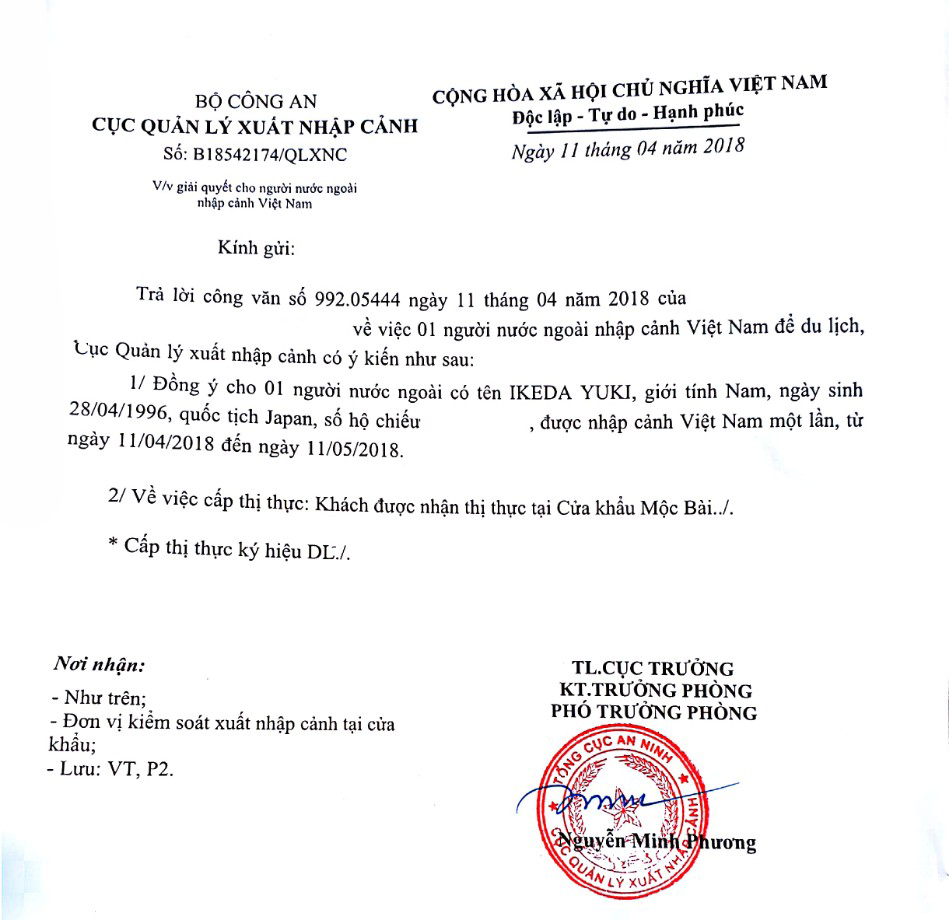 Private Vietnam visa on arrival